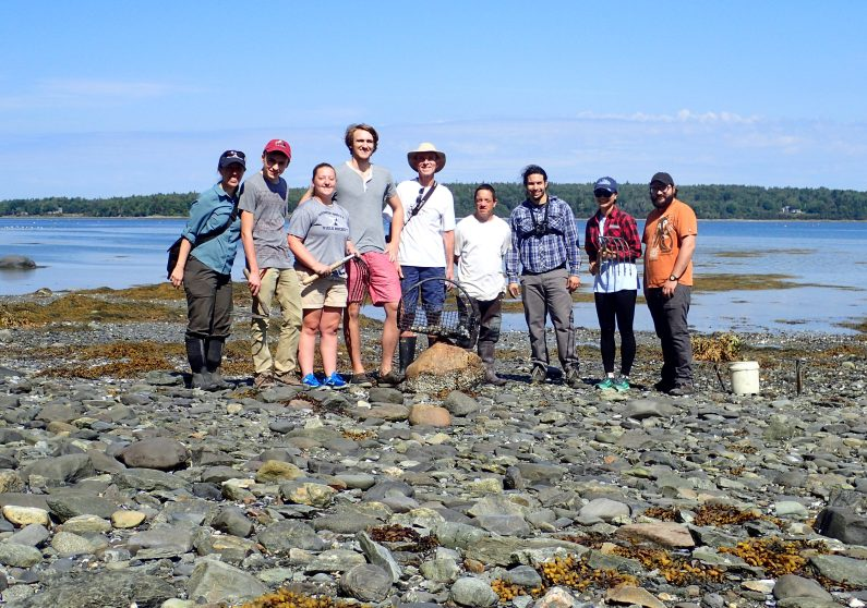 Partnerships for a Sustainable Maine group meets with David Dunton, clammer in Bar Harbor