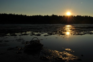Sunrise over clam hod